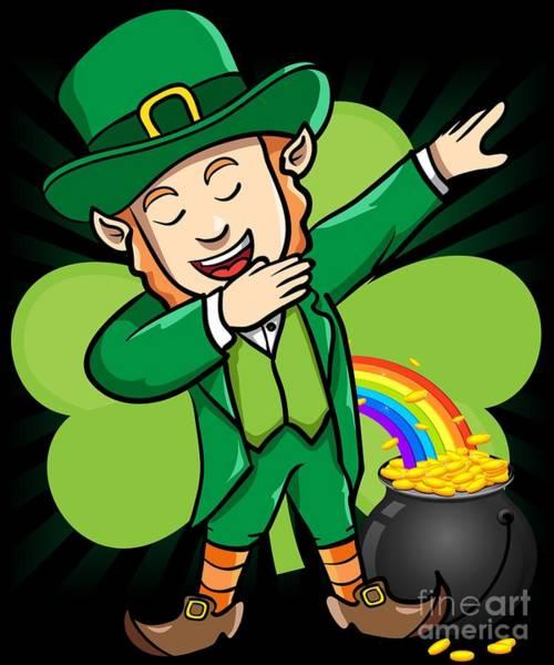Digital Art - Dabbing Leprechaun St Patricks Day by Flippin Sweet Gear