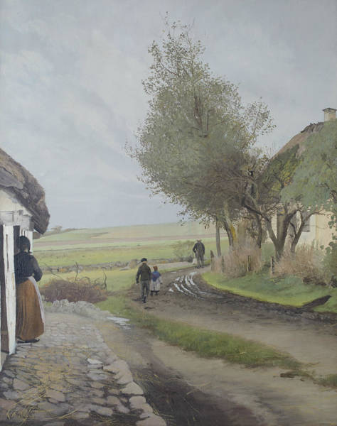 Painting - Dad Comes Home by Laurits Andersen Ring