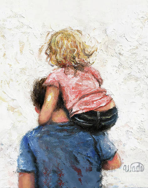 Wall Art - Painting - Daddy, Carry Me Father And Daughter by Vickie Wade