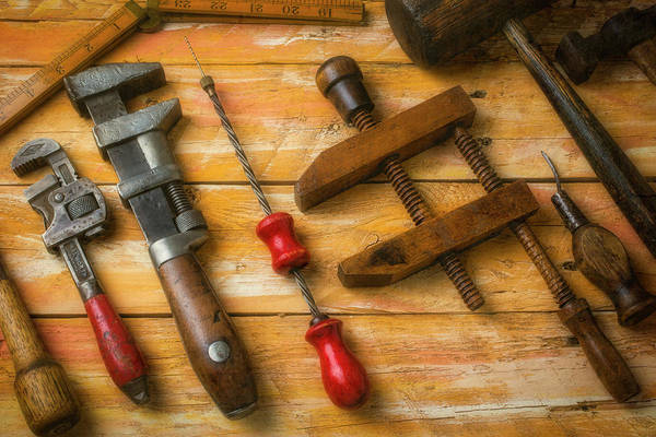 Wall Art - Photograph - Dad's Old Tools by Garry Gay