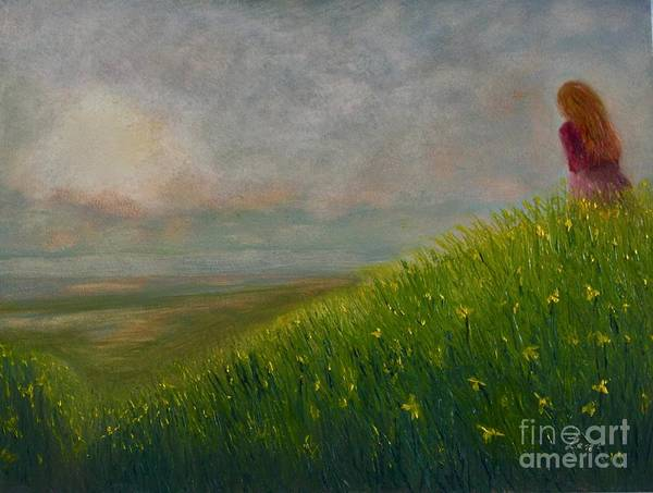 Wall Art - Painting - Daffodil Fields by Tim Lent