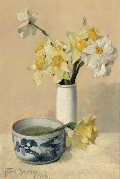 Painting - Daffodils And Narcissi by Frank Bramley