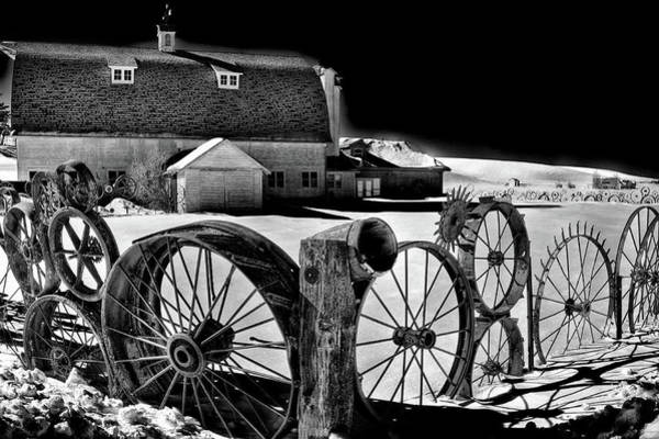 Wall Art - Photograph - Dahmen Barn In Winter by David Patterson
