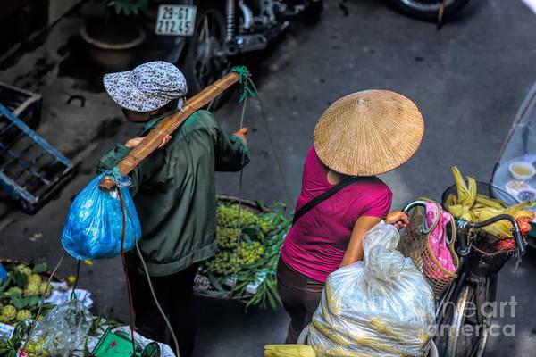 Wall Art - Digital Art - Daily Life Streets Of Hanoi 2 Of 4 by Chuck Kuhn