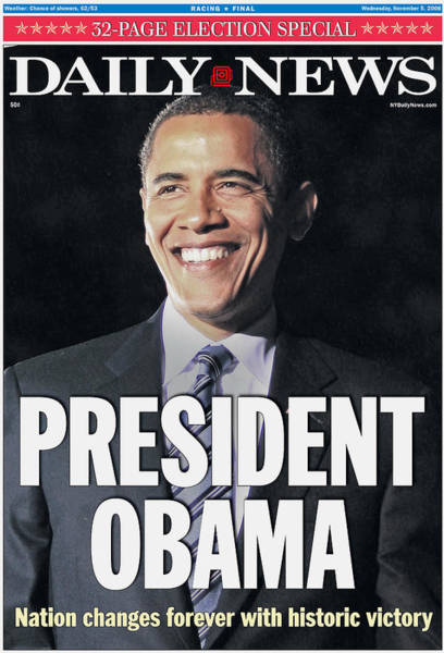Democracy Photograph - Daily News Front Page Election Special by New York Daily News