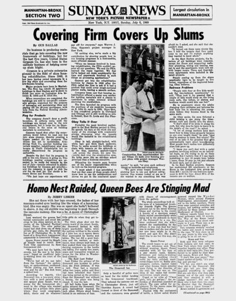 Greenwich Village Photograph - Daily News Page Stonewall Inn by New York Daily News Archive