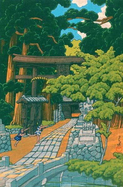 Wall Art - Painting - Dairaijinja - Top Quality Image Edition by Kawase Hasui