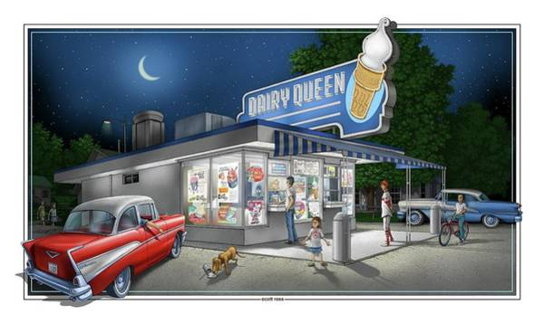 Digital Art - Dairy Queen by Scott Ross