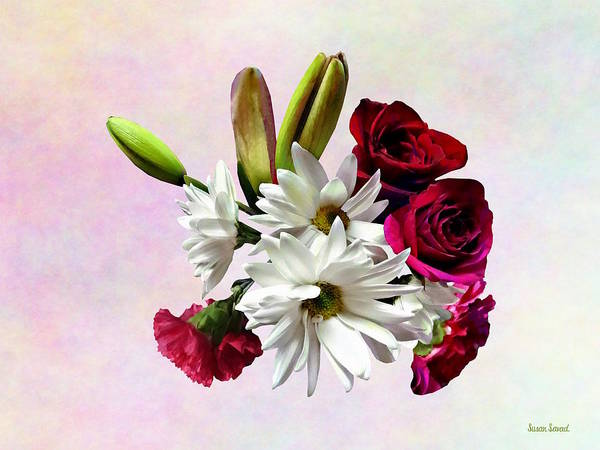 Photograph - Daisies, Roses And Carnations by Susan Savad