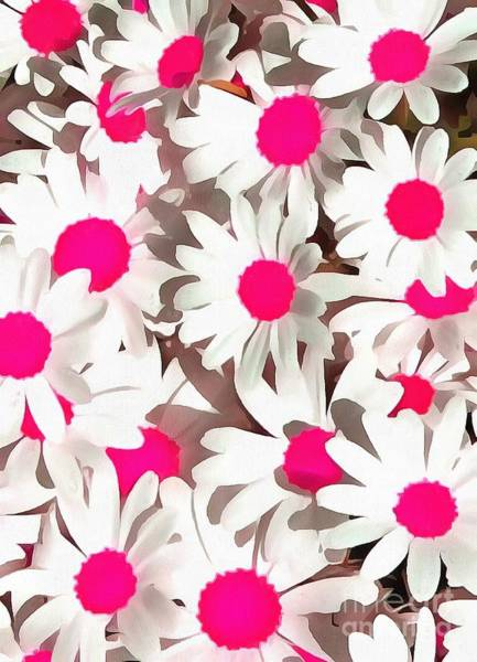 Painting - Daisies White And Pink In Acrylic Paint by Catherine Lott
