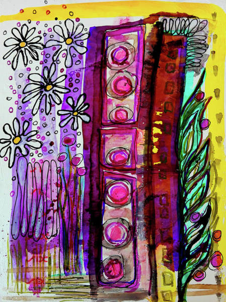 Mixed Media - Daisy Field by Mimulux patricia No