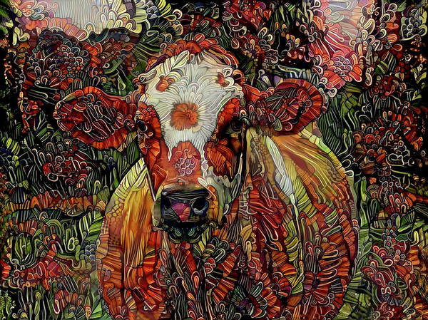 Digital Art - Daisy In The Pasture by Peggy Collins