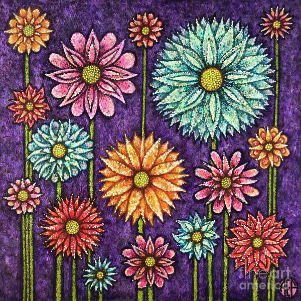 Painting - Daisy Tapestry by Amy E Fraser