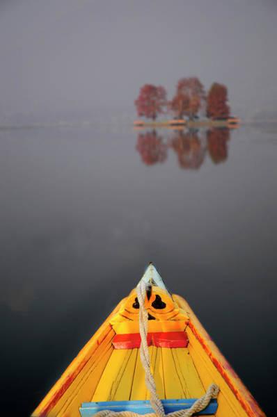 Dal Lake Photograph - Dal Lake, Srinagar, Kashmir - A Shikara by Anoop Negi