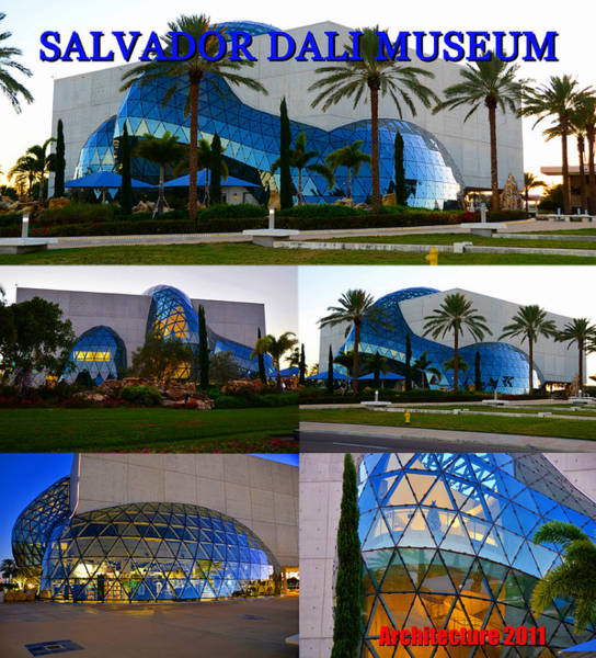 Wall Art - Photograph - Dali Museum Architecture Work A by David Lee Thompson