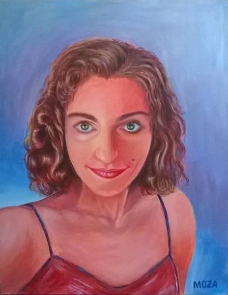 Wall Art - Painting - Dalina's Portrait by Mimoza Gurabardhi