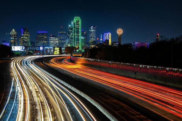 Photograph - Dallas At Night by Michael Ash