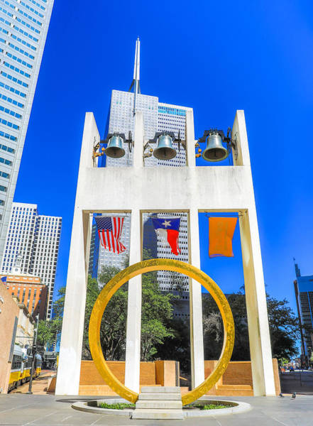 Photograph - Dallas Bell Tower And Ring Of Thanks by Dan Sproul