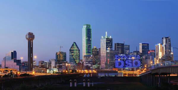 Photograph - Dallas Blue Skyline 071519 by Rospotte Photography