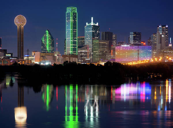 Photograph - Dallas Colorful Skyline 040519 by Rospotte Photography