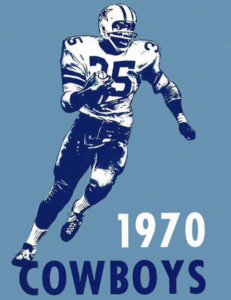 Wall Art - Painting - Dallas Cowboys 1970 Media Guide by Big 88 Artworks