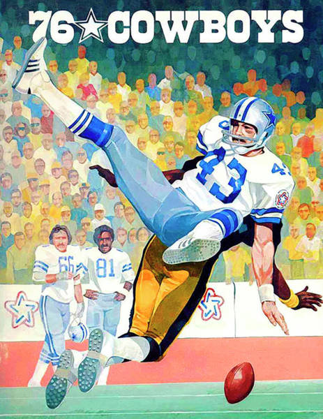 Wall Art - Painting - Dallas Cowboys 1976 Program by Big 88 Artworks
