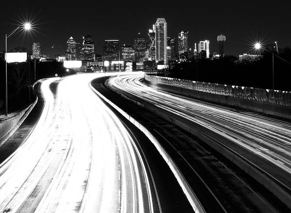 Photograph - Dallas Light Black And White by Dan Sproul