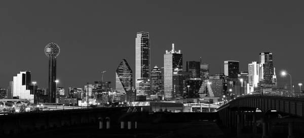 Photograph - Dallas Monochrome Skyline 061419 by Rospotte Photography