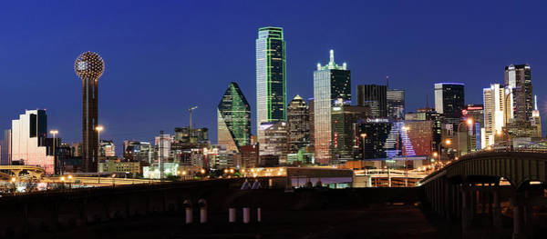 Photograph - Dallas Pano Skyline 041719 by Rospotte Photography
