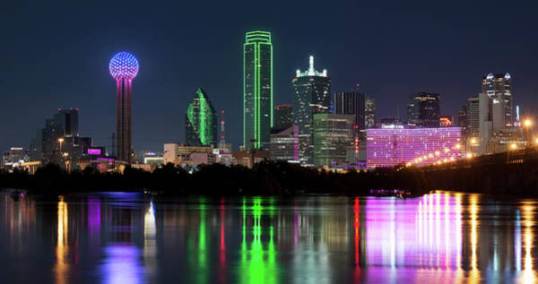 Photograph - Dallas Reflection Pano 022719 by Rospotte Photography