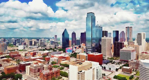 Painting - Dallas Skyline - 02 by Andrea Mazzocchetti