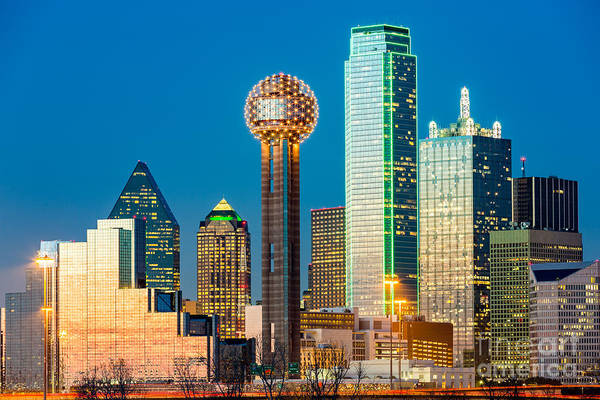 Wall Art - Photograph - Dallas Skyline At Sunset by Mandritoiu