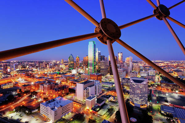 Wall Art - Photograph - Dallas Skyline From Reunion Tower by Jeremy Woodhouse
