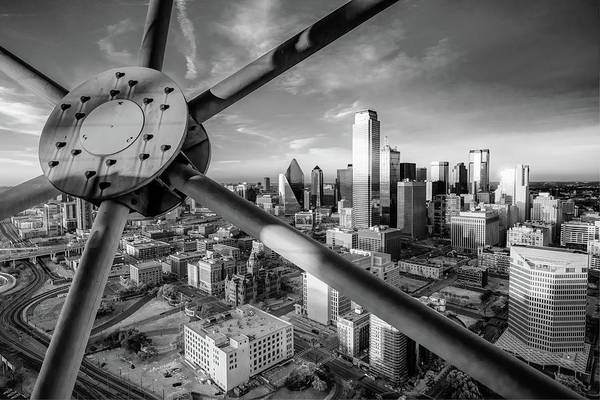 Wall Art - Photograph - Dallas Skyline Infrared Monochrome From Reunion Tower by Gregory Ballos