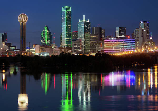 Photograph - Dallas Skyline And Reflection040819 by Rospotte Photography