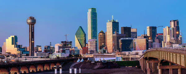 Photograph - Dallas Texas Blue Hour Skyline 040519 by Rospotte Photography