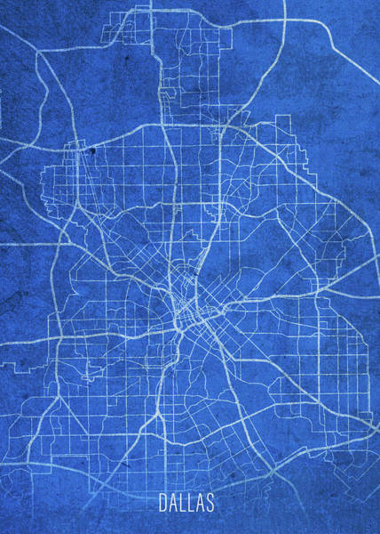 Wall Art - Mixed Media - Dallas Texas City Street Map Blueprints by Design Turnpike