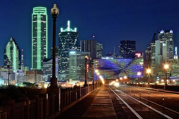 Fort Worth Photograph - Dallas Texas Cowboy Blue Night by Frozen in Time Fine Art Photography