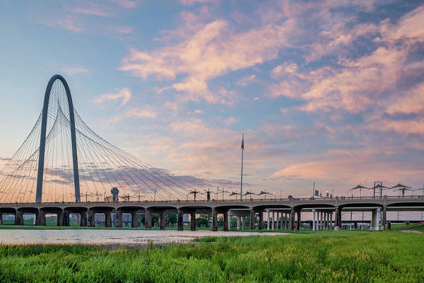 Photograph - Dallas Texas Dawn - Margaret Hunt Hill Bridge by Gregory Ballos