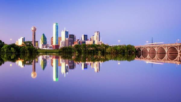 Photograph - Dallas Texas Houston Street Bridge by Robert Bellomy
