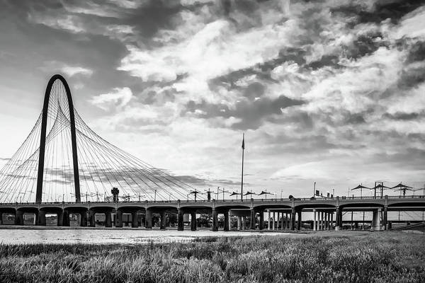 Photograph - Dallas Texas Monochrome - Margaret Hunt Hill Bridge by Gregory Ballos