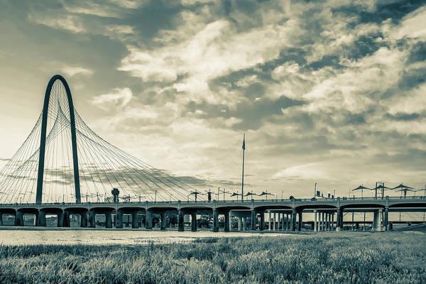 Photograph - Dallas Texas Sepia - Margaret Hunt Hill Bridge by Gregory Ballos