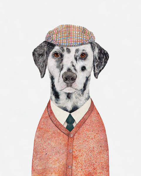 Animals In Clothes Wall Art - Painting - Dalmatian by Animal Crew