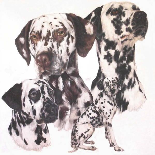 Mixed Media - Dalmatian Two by Barbara Keith
