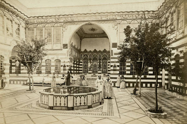 Damascus Photograph - Damascus Courtyard by Spencer Arnold Collection
