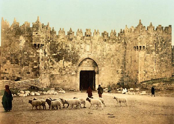 Damascus Photograph - Damascus Gate 19th Century by Munir Alawi
