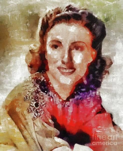 Wall Art - Painting - Dame Vera Lynn, Music Legend by Mary Bassett