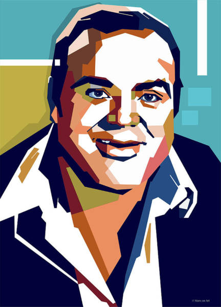 Wall Art - Digital Art - Dan Blocker by Stars-on- Art