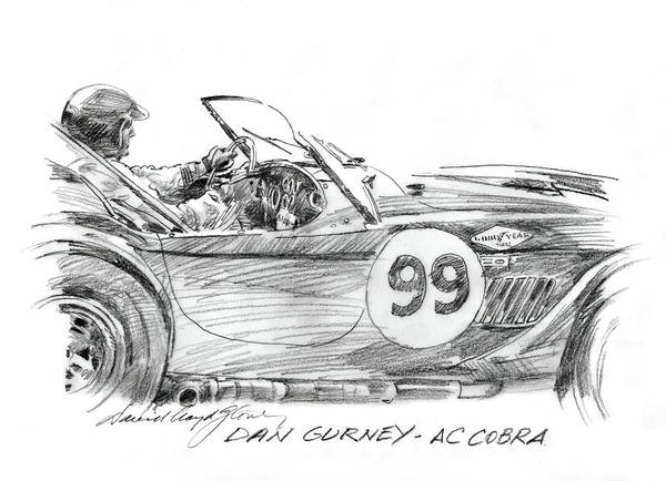 Painting - Dan Gurney Racing Ac Cobra 289 by David Lloyd Glover