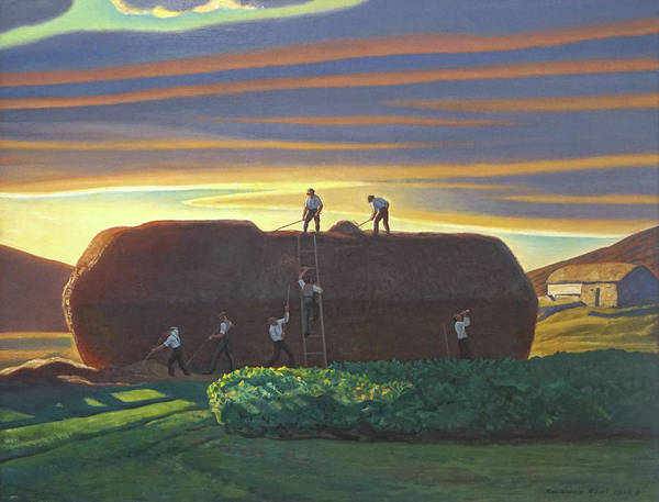 Dan Wards Stack Ireland Art Print by Rockwell Kent